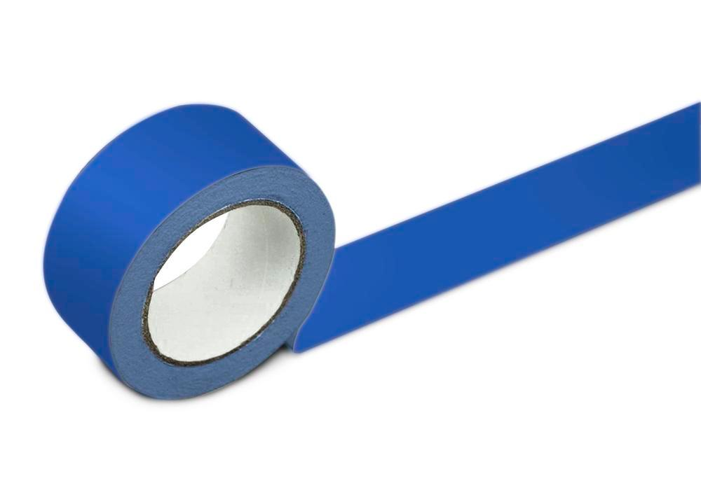 Floor marking tape, 50 mm wide, blue, 2 rolls