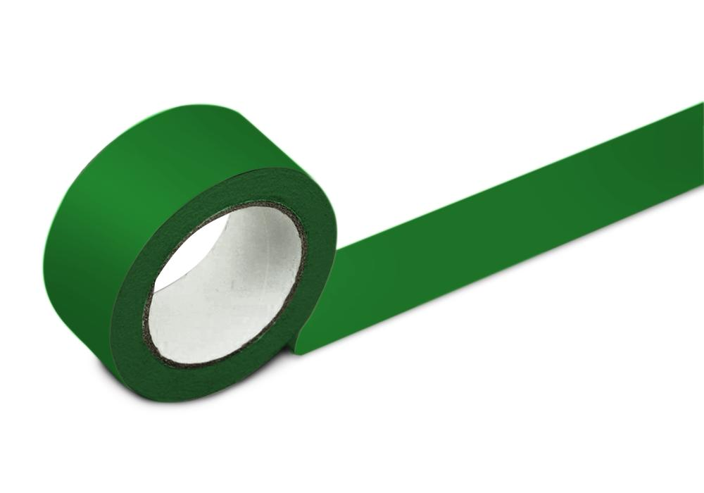 Floor marking tape, 50 mm wide, green, 2 rolls