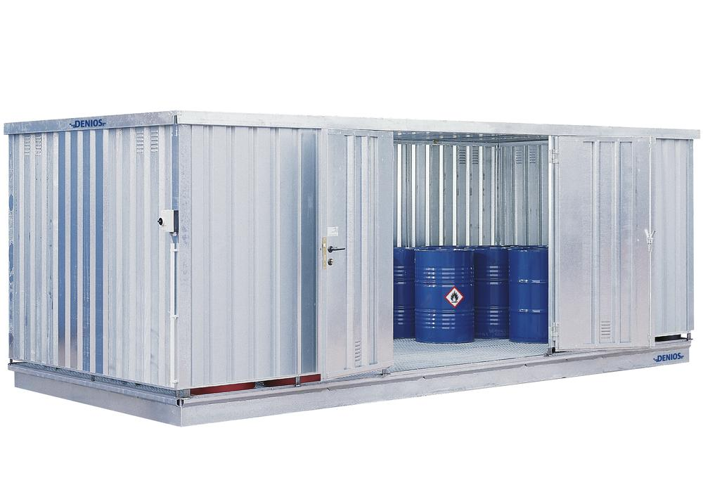 Module Container WHG 360 L-S, Galvanised, with door on the long side