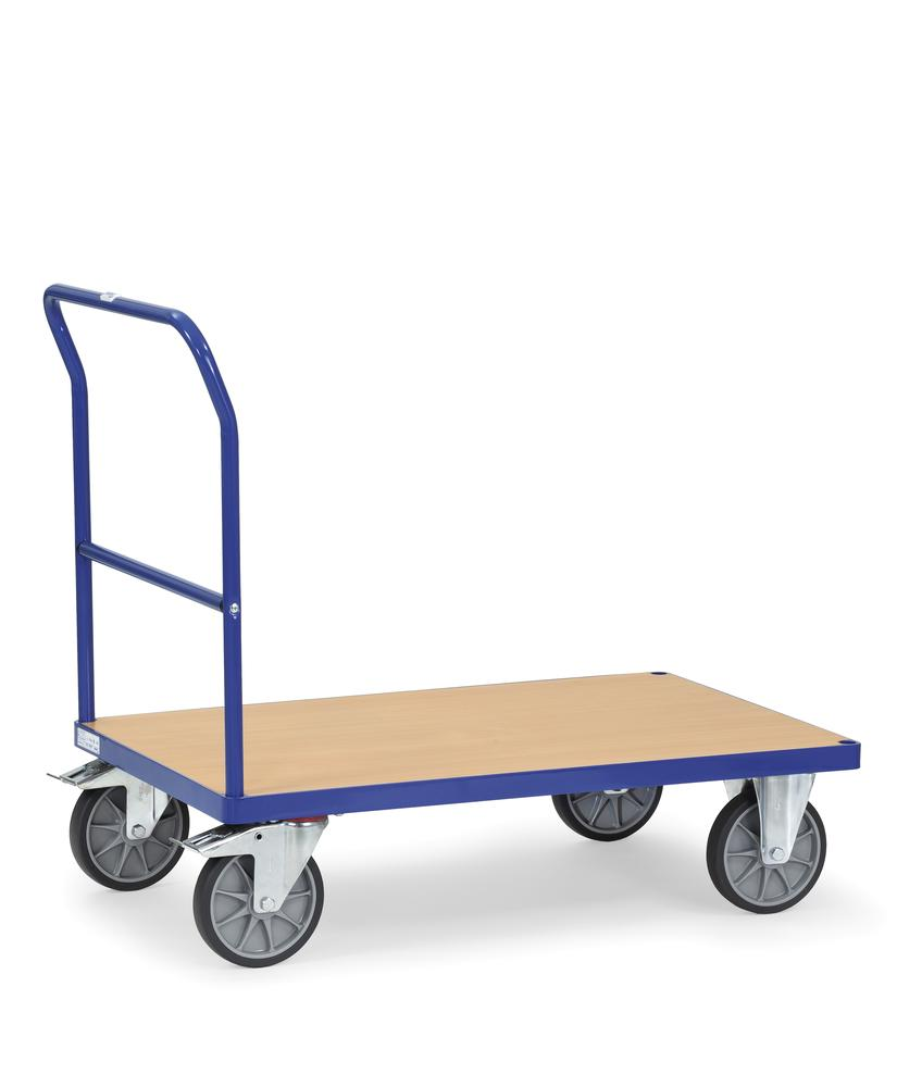 Multi-purpose trolley PW 10 with plastic coated MDF board as a loading surface and handle
