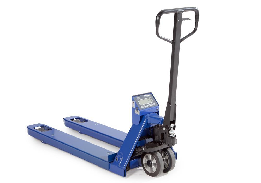 Hand operated pallet truck with scales, model HW 1