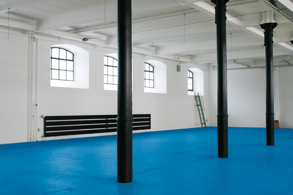 PROline-paint 2K floor marking paint, 5 l, water based, approx.20-25 m2, blue, RAL 5017