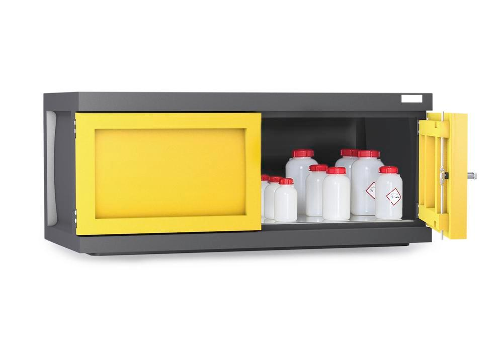 Add. wall mounted cabinet Polystore, plastic, W 120 cm, 1 grid galvanised, Model PS-1211-A1