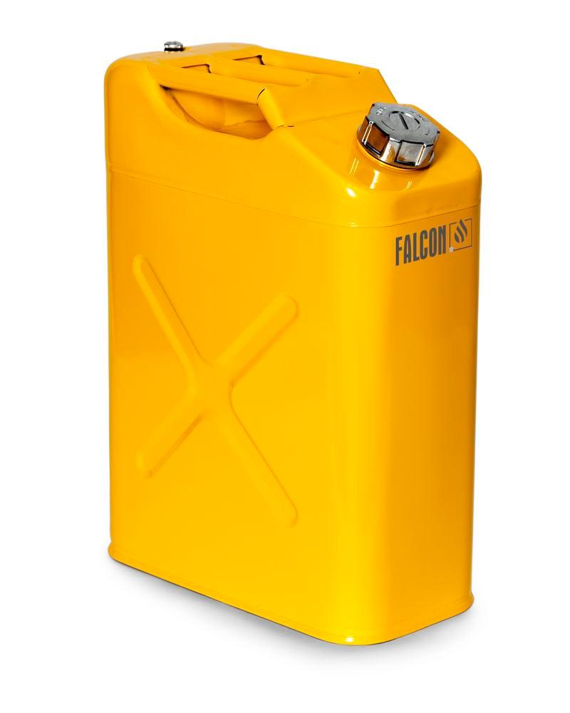 FALCON safety canister in steel, painted, with transport approval, 20 litres - 1