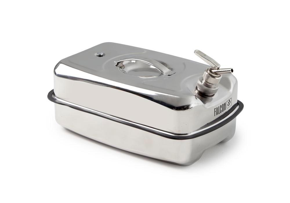 FALCON safety container in stainless steel, with fine dosing tap, 20 litres - 1