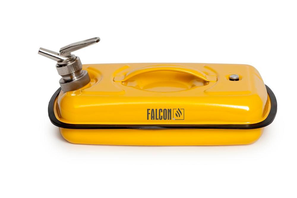 FALCON safety container in steel, painted, with fine dosing tap, 5 litres - 2
