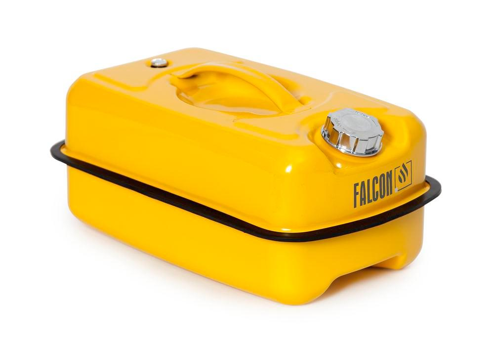 FALCON safety container in steel, painted, with transport approval, 10 litres