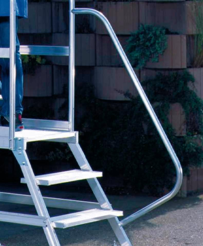 Handrail for podium ladder, both sides (for 3 to 4 steps), 1 item - 1