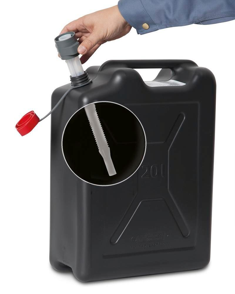 Plastic safety canister, 20 litres volume