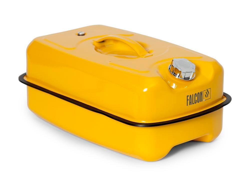 Safety container in steel, with screw cap, yellow, 20 litre