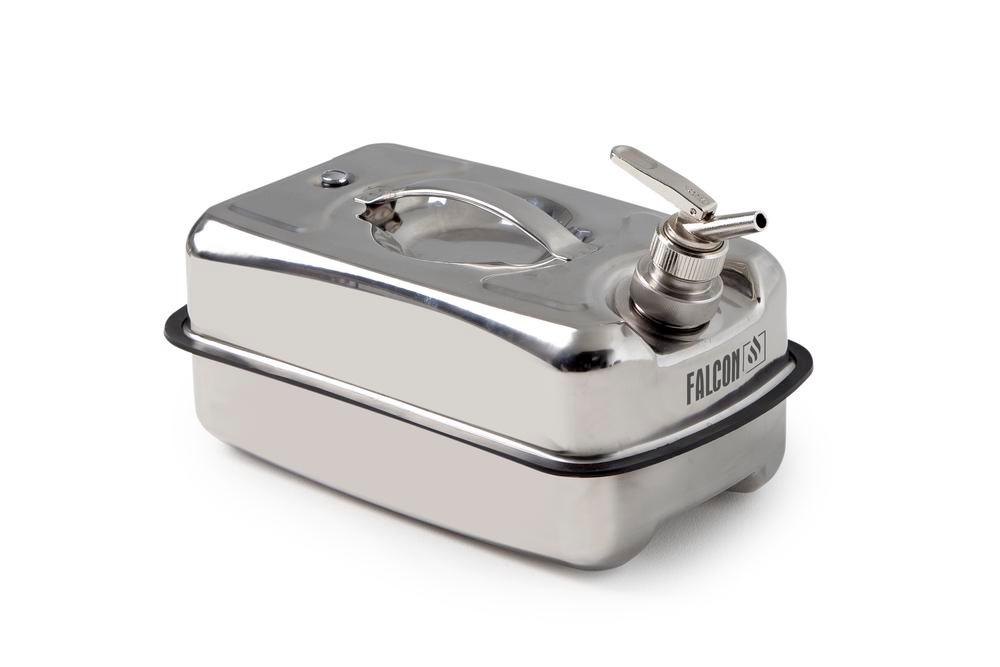 Safety containers in stainless steel, with fine dosing Tap, 10 litre