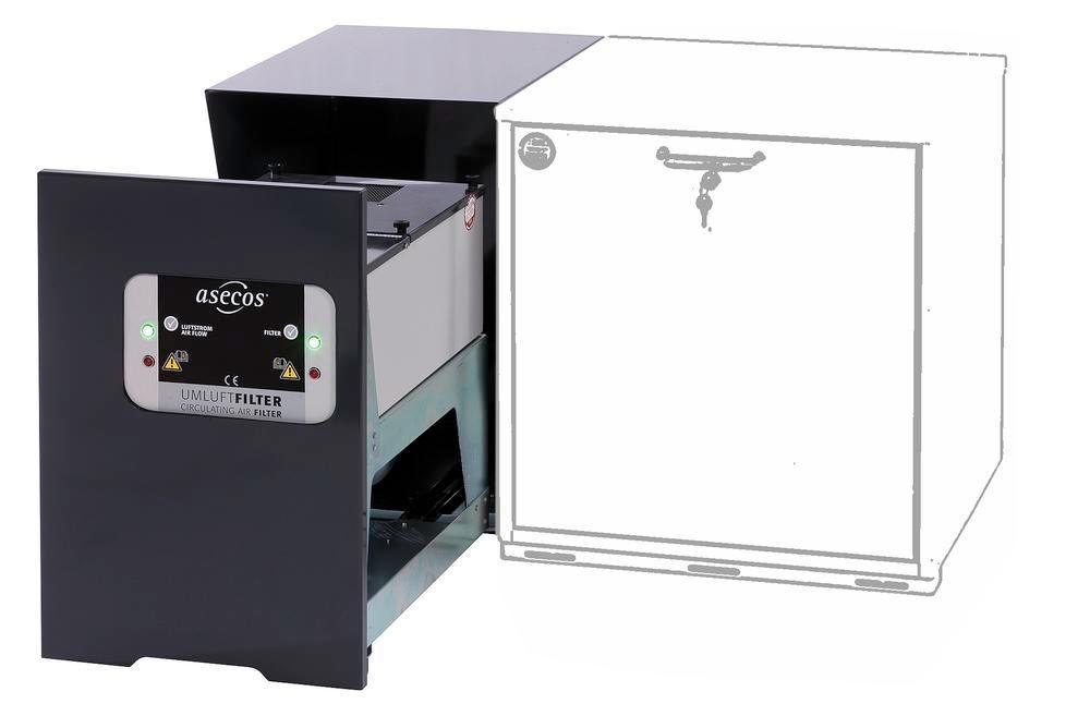 asecos recirculating air filter system underbench cabinets Model UFA 20.30-AUS, incl. housing unit - 1