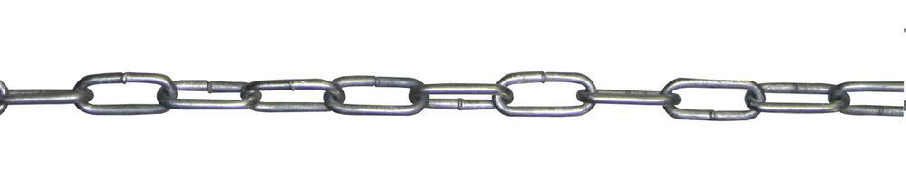 Barrier chain in steel, 30 m long, hot dip galvanised, diameter 6 mm