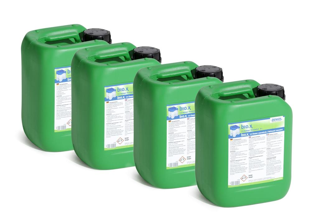 Cleaning fluid for parts cleaning table bio.x, as a concentrate for initial filling