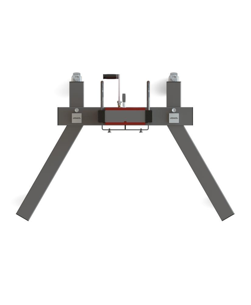 Drum lifter Secu Drive, drum clamp, 205 to 220 litre drum, v-shaped chassis, lift height 0-1320 mm
