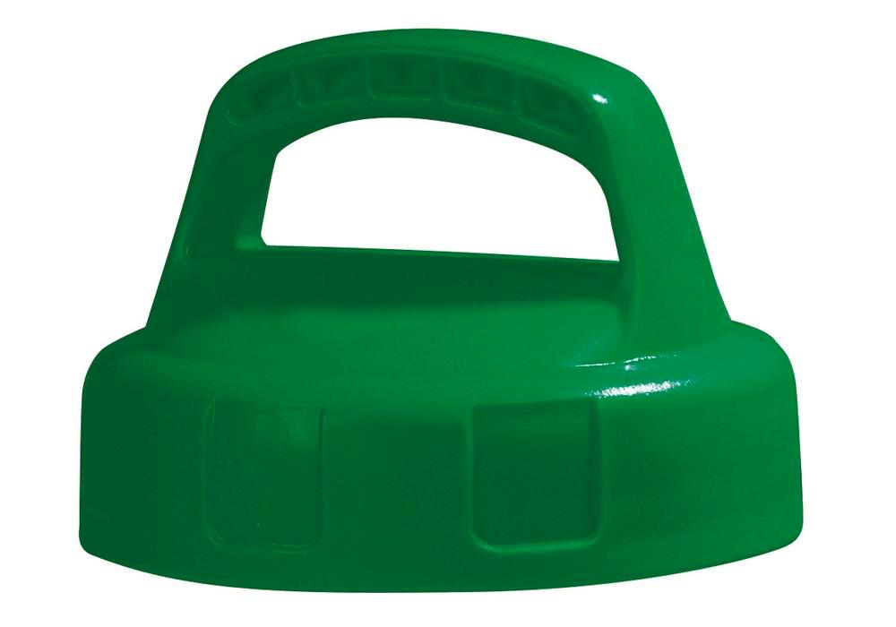 Function lid for liquid container, closed, green