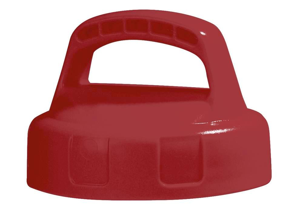 Function lid for liquid container, closed, red
