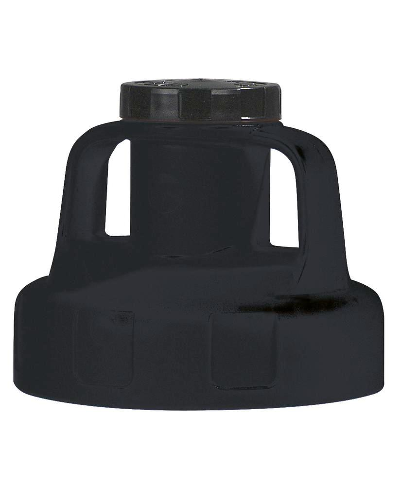 Function lid for liquid container, for pump, black
