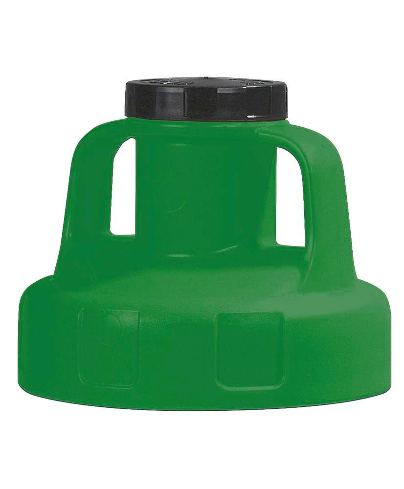 Function lid for liquid container, for pump, green