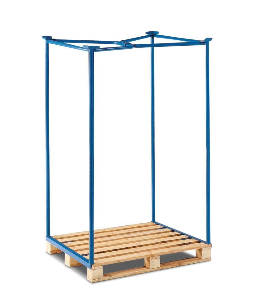 Stackable frame for Euro pallet PH 16, steel, can be stacked 3 high, usable height 1600 mm