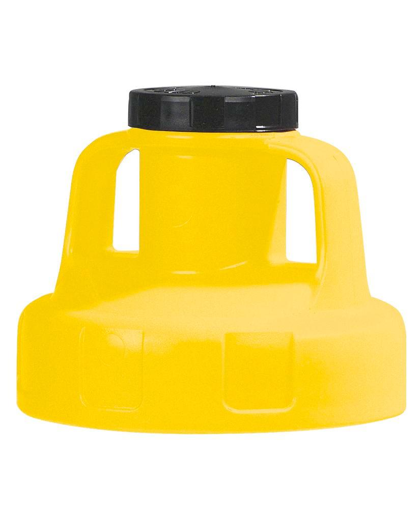 Utility lid for dispenser, yellow