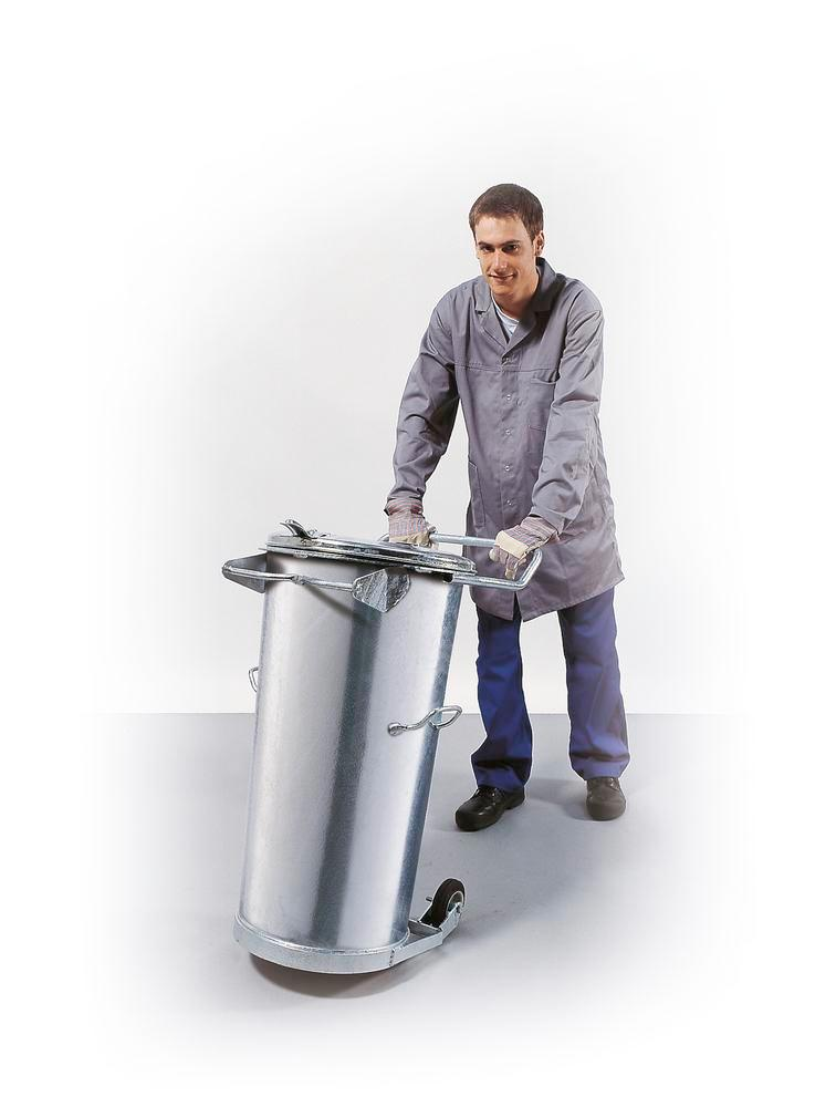 Waste bin, mobile, without bracket, 110 litre capacity - 1