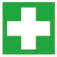 """Emergency sign """"First aid"""", ISO 7010, luminescent, in aluminium, 150 x 150 mm - 1"""