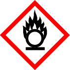 "GHS 03 sign, symbol ""Oxidising"", foil, 105 x 105 mm, individual label"