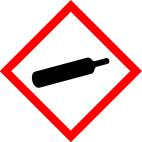 "GHS 04 sign, symbol ""Gas cylinder"", foil, 37 x 37 mm, sheet of 12 labels"