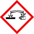"GHS 05 sign, symbol ""Corrosive"", foil, 52 x 52 mm, sheet of 6 labels"