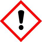 "GHS 07 sign, symbol ""Exclamation mark"", foil, 105 x 105 mm, individual label - 1"