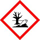 "GHS 09 sign, symbol ""Environment"", foil, 26 x 26 mm, sheet of 12 labels"