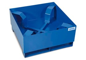 Spill pallet classic-line in steel for 1 drum, painted, access. underneath w dr support, 866x866x423-w280px