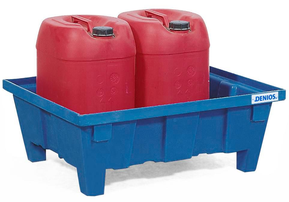 Spill tray for small containers classic-line in polyethylene (PE) with feet, without grid, 60 litres - 1