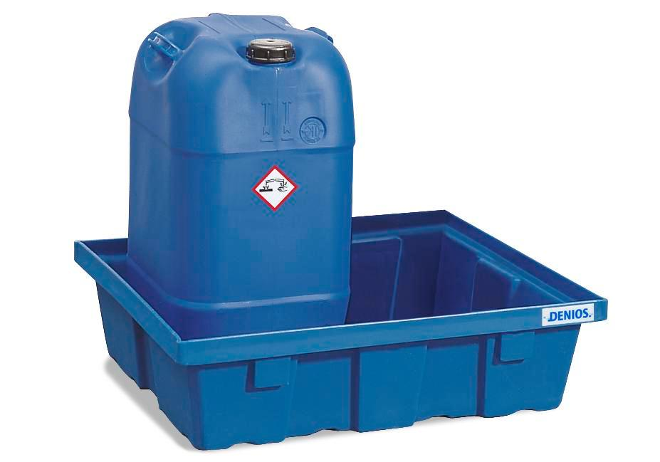 Spill tray for small containers classic-line in polyethylene (PE) without grid, 60 litres - 1