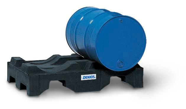 Drum dispensing rack, polyethylene, for horizontal storage of 2x205 litre drums