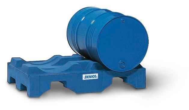 Drum pallet in polyethylene (PE), blue, for 2 drums