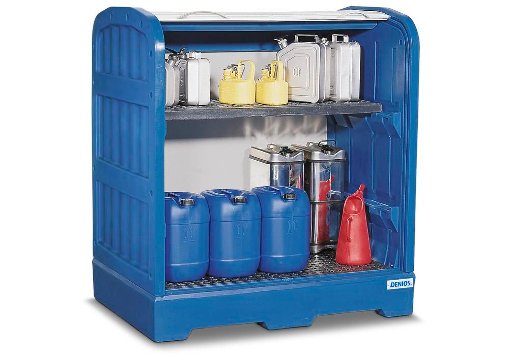 PolySafe-Depot PSR 8.12 with grid and grid shelf in polyethylene (PE) - 1