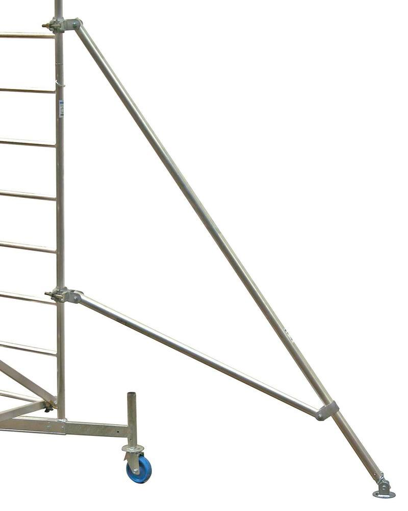 Scaffold brace for increased stability