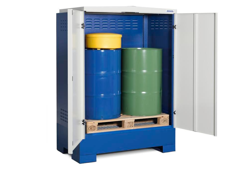 Cubos hazardous materials depot, for up to 2 x 205 litre drums, painted, Type XL-2.2