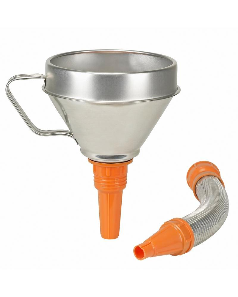 Funnel, stainless steel, with strainer and flexible funnel neck, Ø 160mm - 1