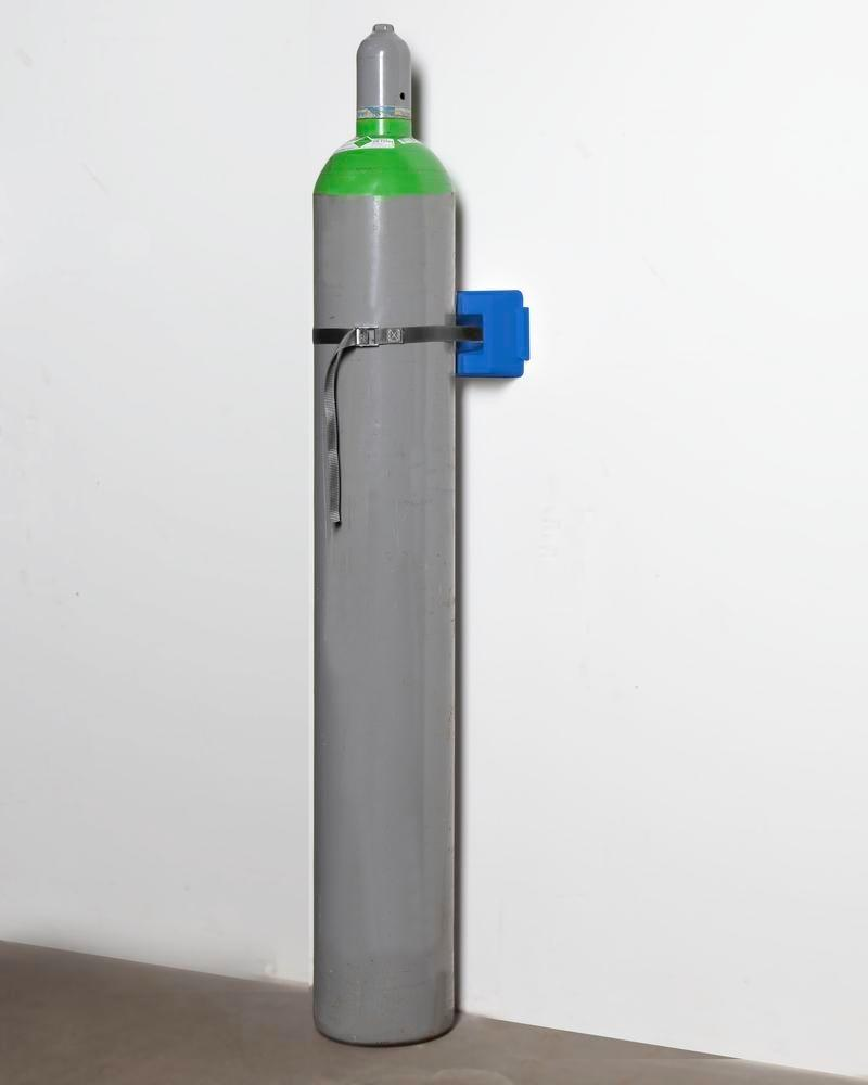 Gas cylinder wall mounting WH 1-p Universal in polyethylene (PE), for 1 cylinder with max. 320 mm Ø