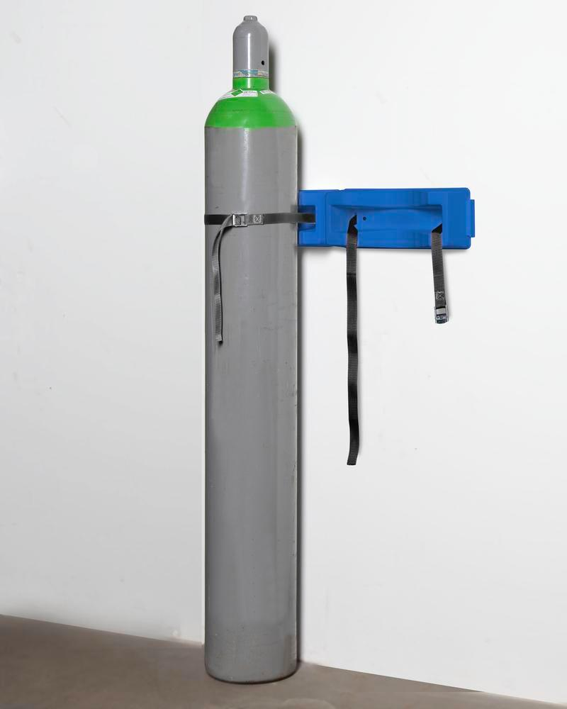 Gas cylinder wall mounting WH 2-p Universal in polyethylene (PE), for 2 cylinders with max. 320 mm Ø