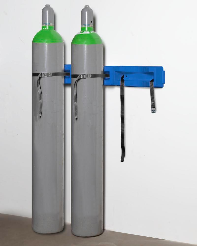 Gas cylinder wall mounting WH 3-p Universal in polyethylene (PE), for 3 cylinders with max. 320 mm Ø