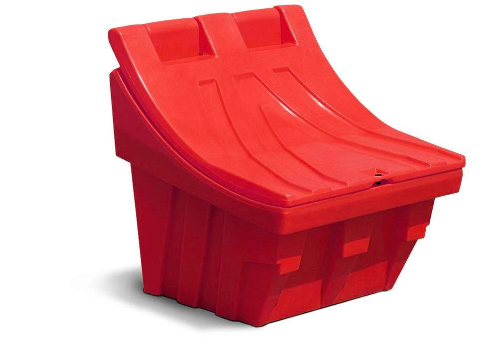 Grit container CS 50 of polyethylene (PE), stackable, red