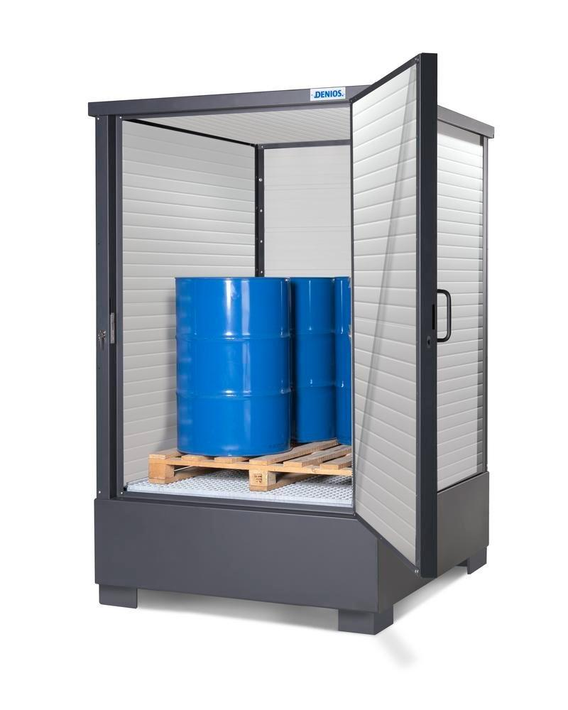 SolidMaxx depot model CH 1.1-ISO, insulated, for 4 x 205 litre drums or 1 x 1000 litre IBC