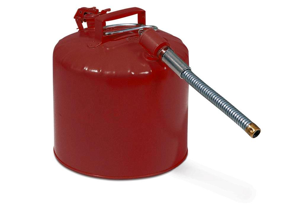 Steel safety container flex. 19 ltr, red