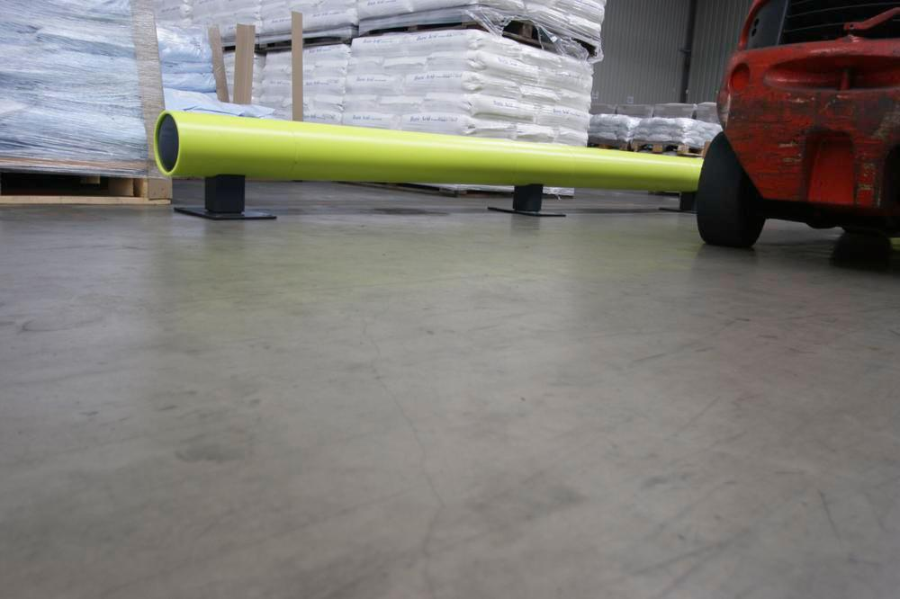 Castra impact protection in plastic, for walkways, colour lime, with one board, length 190 cm - 4