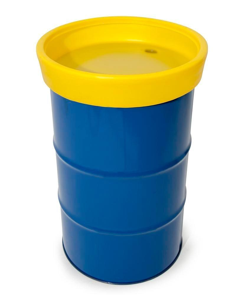 FALCON drum funnel in polyethylene (PE), with strainer