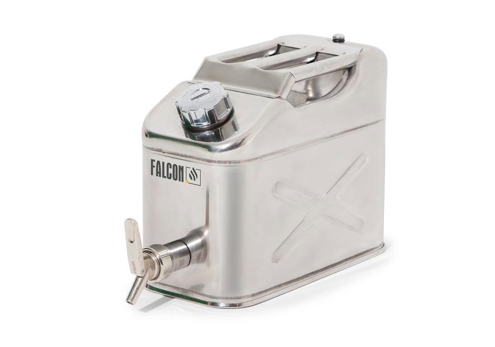 FALCON Saf.Jerrycan Stainl.St.,10L,Filling Tap